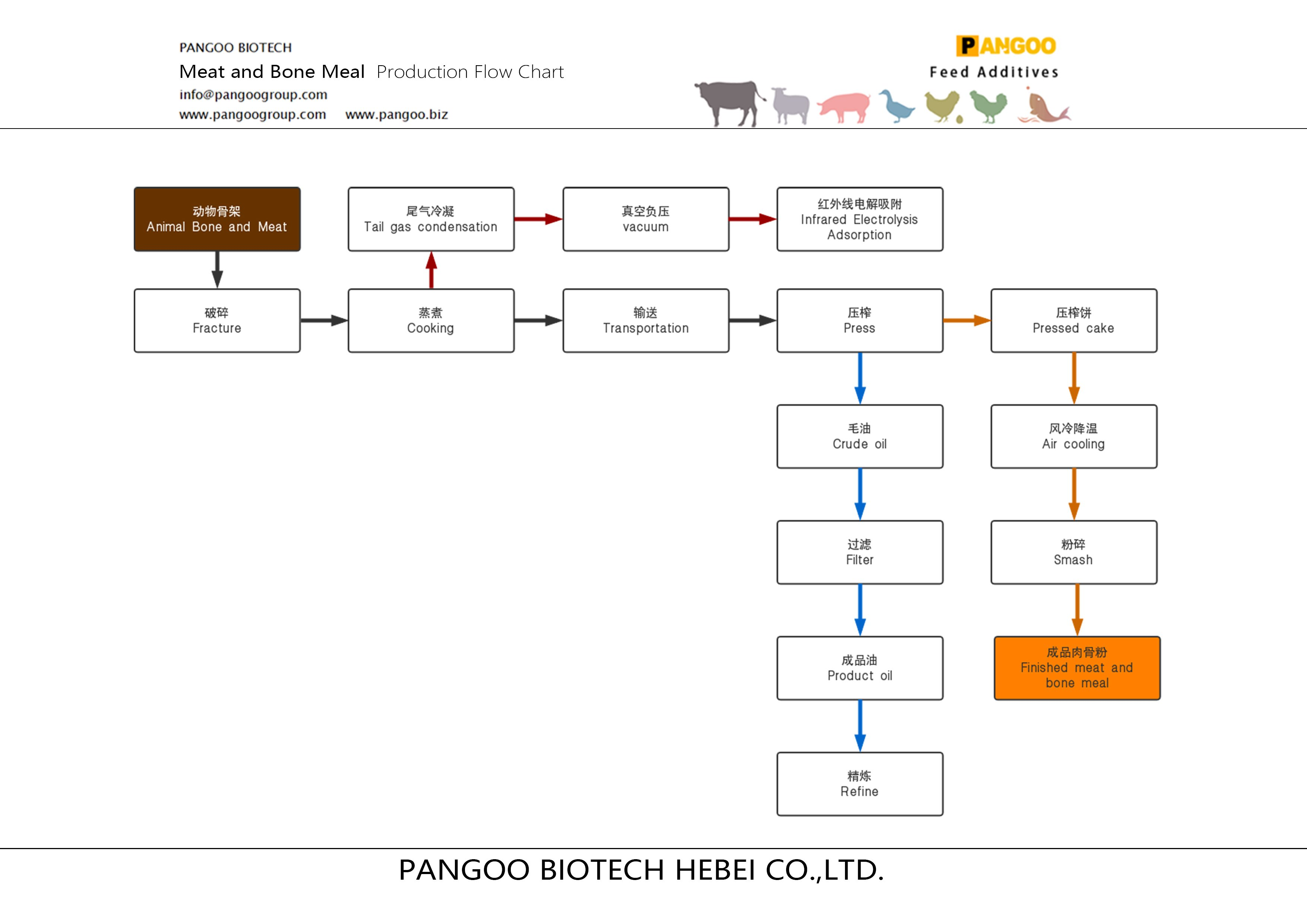 Meat and Bone Meal Production Flow Chart